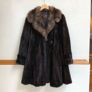 Christian Dior mink fur coat